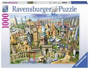 Ravensburger Puzzle 19890 - Sehenswürdigkeiten weltweit - 1000 Teile - 1