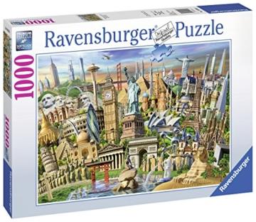 Ravensburger Puzzle 19890 - Sehenswürdigkeiten weltweit - 1000 Teile - 3