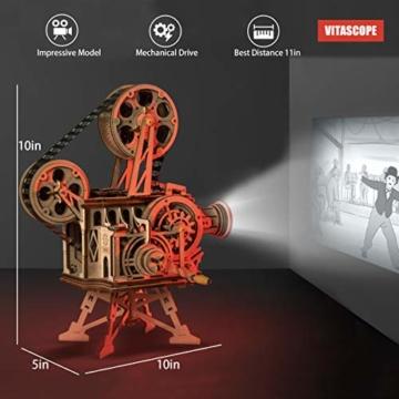 Robotime Mechanisch Vitascope Holz Modellbau - 3D Puzzle Holz Erwachsene - Denkspiele Spielzeug Geschenk Teenager ab 14 Jahren bausatz Holz projektor - 2