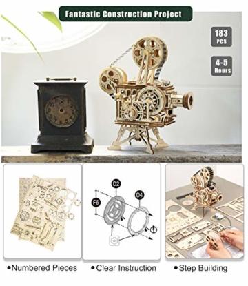 Robotime Mechanisch Vitascope Holz Modellbau - 3D Puzzle Holz Erwachsene - Denkspiele Spielzeug Geschenk Teenager ab 14 Jahren bausatz Holz projektor - 4