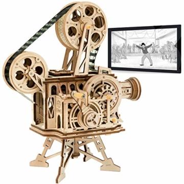 Robotime Mechanisch Vitascope Holz Modellbau - 3D Puzzle Holz Erwachsene - Denkspiele Spielzeug Geschenk Teenager ab 14 Jahren bausatz Holz projektor - 1