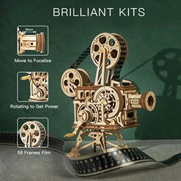 Robotime Mechanisch Vitascope Holz Modellbau - 3D Puzzle Holz Erwachsene - Denkspiele Spielzeug Geschenk Teenager ab 14 Jahren bausatz Holz projektor - 5