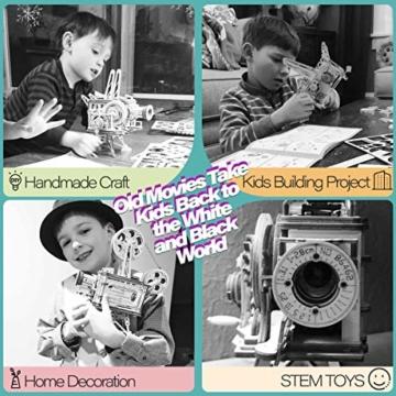 Robotime Mechanisch Vitascope Holz Modellbau - 3D Puzzle Holz Erwachsene - Denkspiele Spielzeug Geschenk Teenager ab 14 Jahren bausatz Holz projektor - 6
