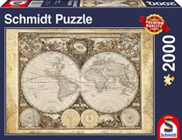 Schmidt Spiele 58178 - Historiche Weltkarte, 2000 Teile Puzzle - 1