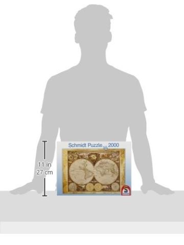 Schmidt Spiele 58178 - Historiche Weltkarte, 2000 Teile Puzzle - 4