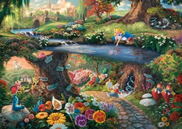 Schmidt Spiele 59636 Thomas Kinkade, Disney, Alice im Wunderland, 1000 Teile Puzzle, Bunt - 2