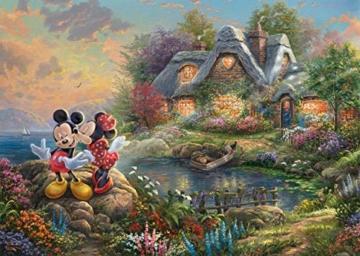 Schmidt Spiele 59639 Thomas Kinkade, Disney-Sweethearts Mickey & Minnie, 1.000 Teile Puzzle, Bunt - 2