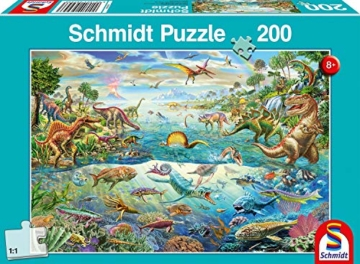 Schmidt Spiele Puzzle 56253 Entdecke die Dinosaurier, 200 Teile Kinderpuzzle - 1