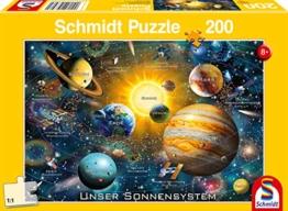 Schmidt Spiele Puzzle 56308 Unser Sonnensystem, 200 Teile Kinderpuzzle, bunt - 1