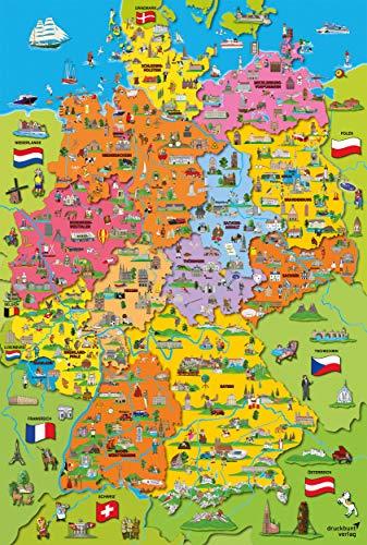Schmidt Spiele Puzzle 56312 Deutschlandkarte mit Bildern, 200 Teile Kinderpuzzle, bunt - 2
