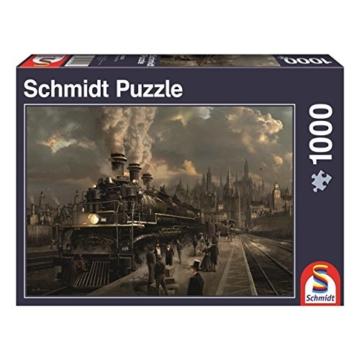Schmidt Spiele Puzzle 58206 58206-Lokomotive, 1000 Teile Puzzle, bunt - 3