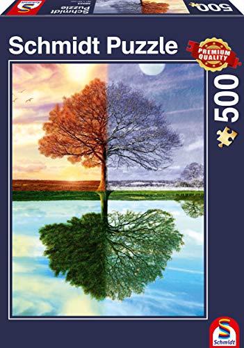Schmidt Spiele Puzzle 58223 Puzzle 500 Teile, Jahreszeiten Baum - 1