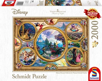 Schmidt Spiele Puzzle 59607 Thomas Kinkade, Disney Dreams Collection, 2000 Teile Puzzle, bunt - 1