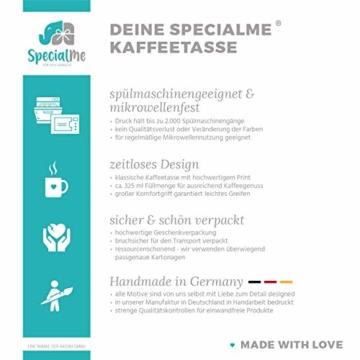 SpecialMe® Namenstasse personalisierte Kaffee-Tasse mit Namen und Buchstabe persönliche Geschenke Buchstabentasse inner-rosa Keramik-Tasse - 2