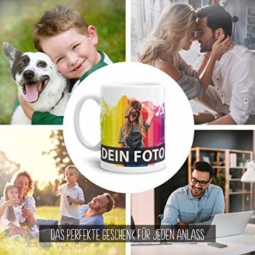 Tasse selbst individuell gestalten/Personalisierbar mit eigenem Foto Bedrucken/Fototasse/Motivtasse/Werbetasse/Firmentasse mit Logo/Weiss - Glanz - 2