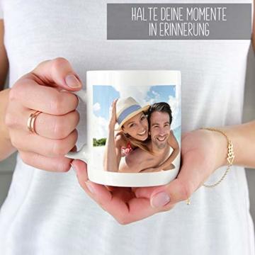 Tasse selbst individuell gestalten/Personalisierbar mit eigenem Foto Bedrucken/Fototasse/Motivtasse/Werbetasse/Firmentasse mit Logo/Weiss - Glanz - 7