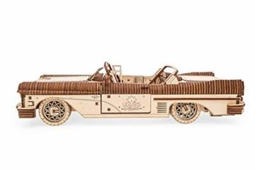 UGEARS 3D Puzzle für Erwachsene Traum Cabrio Technisches Modell Holzpuzzle Denksport Modellbau Bausätze für Erwachsene DIY Puzzle Lernspielzeug für Kinder Holzkunst Cabriolet Auto Baukasten Set - 2