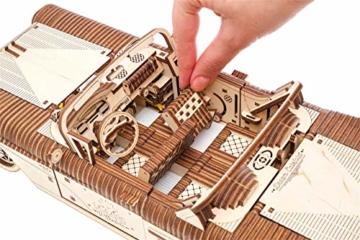 UGEARS 3D Puzzle für Erwachsene Traum Cabrio Technisches Modell Holzpuzzle Denksport Modellbau Bausätze für Erwachsene DIY Puzzle Lernspielzeug für Kinder Holzkunst Cabriolet Auto Baukasten Set - 4