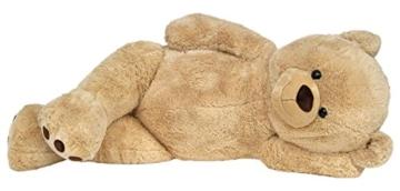 Wagner 9050 - Riesen XXL Teddybär 170 cm groß in hell-braun - Plüschbär Kuschelbär Teddy Bär in beige 1,70 m - 4