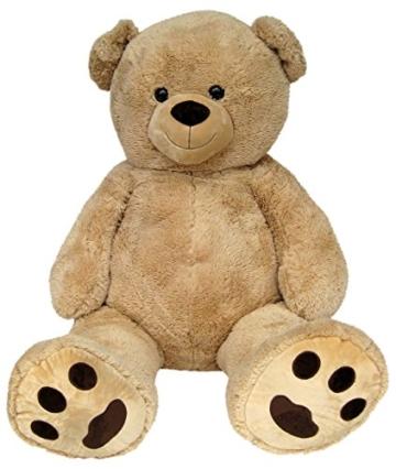 Wagner 9051 - Riesen XXL Teddybär 160 cm groß in hell-braun - Plüschbär Kuschelbär Teddy Bär in beige 1,60 m - 3