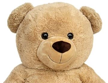 Wagner 9051 - Riesen XXL Teddybär 160 cm groß in hell-braun - Plüschbär Kuschelbär Teddy Bär in beige 1,60 m - 6